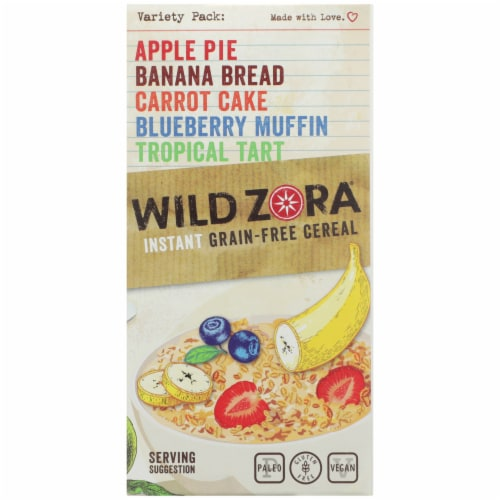 Wild Zora Instant Grain-Free Hot Cereal Variety Pack Perspective: right