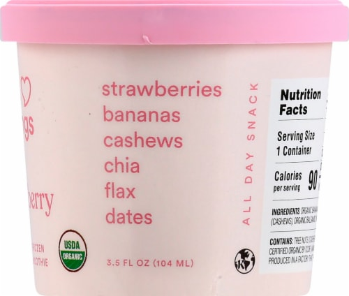 Sweet Nothings Plant Based Spoonable Strawberry Smoothie Frozen Snack Perspective: right