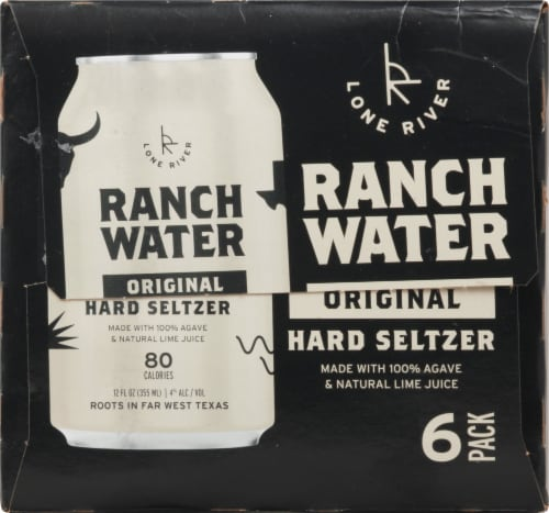 Lone River Ranch Water Original Hard Seltzer Perspective: right