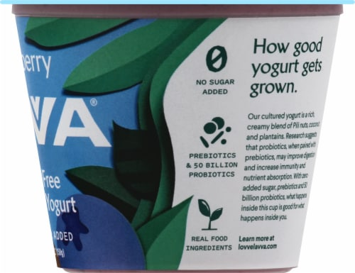 Lavva Blueberry Plant-Based Yogurt Perspective: right