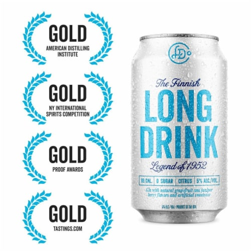 The Finnish Long Drink Zero Sugar Citrus Cocktail Perspective: right