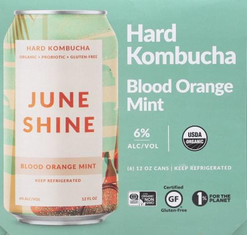 JuneShine Blood Orange Mint Hard Kombucha Perspective: right