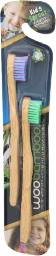Woobamboo Sprouts 2 Pack Toothbrush Perspective: right