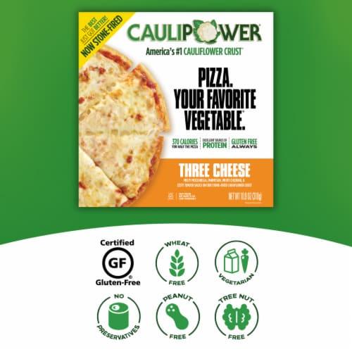 Caulipower Stone-Fired Three Cheese Cauliflower Crust Pizza Perspective: right
