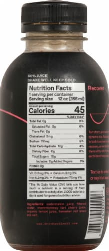 WellWell Recover Watermelon + Tart Cherry Hydration Drink Perspective: right