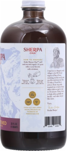 Sherpa Chai Unsweetened Chai Tea Concentrate Perspective: right