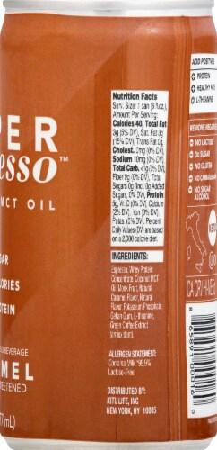Super Espresso Caramel Enhanced Espresso Beverage Perspective: right
