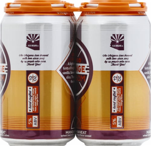 Papago Brewing Co. Orange Blossom Mandarin Wheat Beer Perspective: right