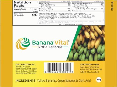 Banana Vital Simply Bananas Fruit Bar Box - 18 Bars Perspective: right