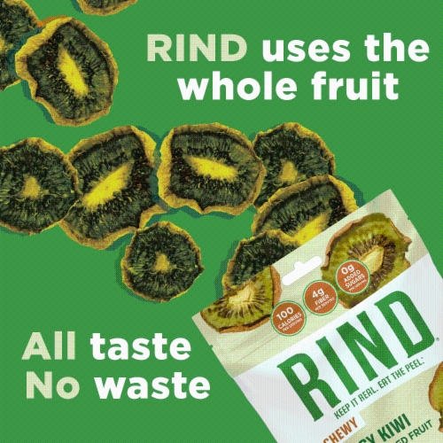 RIND Snacks Tangy Kiwi Dried Fruit Superfood - 3oz Bags, 6 Bags Total Perspective: right