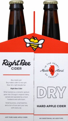 Right Bee Cider Dry Cider Perspective: right