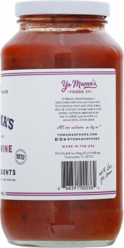 Yo Mama's Foods Divine Chianti Wine Tomato Sauce Perspective: right