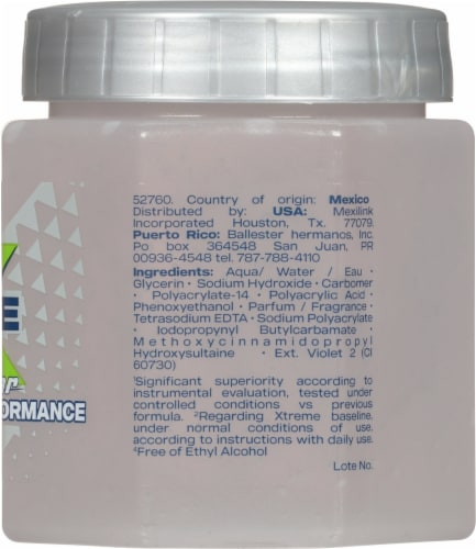 Wet Line Xtreme Clear ReAction Styling Gel Perspective: right