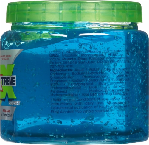 Wet Line Xtreme Blue Extra Firm Hold 24 Hour Styling Gel Perspective: right
