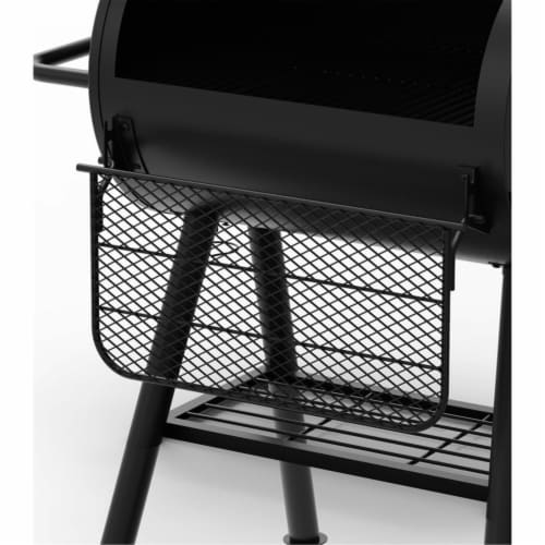 Dyna-Glo Signature Series Barrel Charcoal Grill with Side Firebox Perspective: right