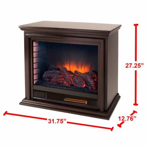 Pleasant Hearth Sheridan Mobile Infared Fireplace - Espresso Perspective: right