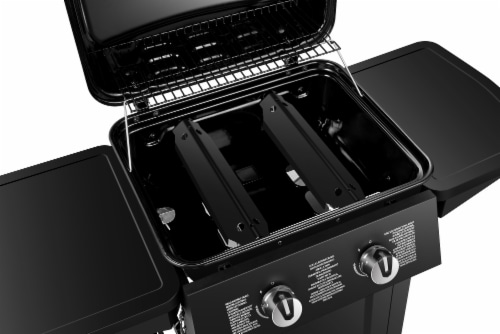 Dyna-Glo 2 Burner Open Cart LP Gas Grill - Black Perspective: right