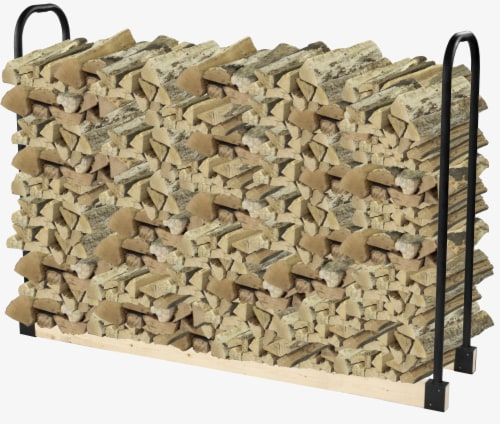 Pleasant Hearth Adjustable Log Rack -  Black Perspective: right