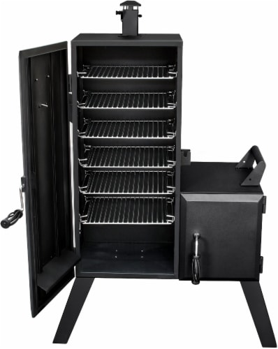 Dyna-Glo Vertical Offset Charcoal Smoker Perspective: right