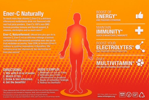 Ener-C Orange Flavor Vitamin C Packets 1000mg Perspective: right