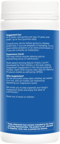 Natural Vitality Calm Magnesium Supplement Gummies Perspective: right
