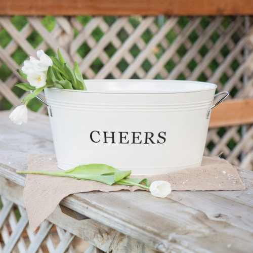 Cheers Galvanized Metal Tub by Twine® Perspective: right