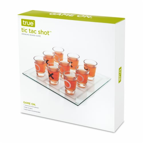 Tic Tac Shot™ Drinking Board Game Perspective: right