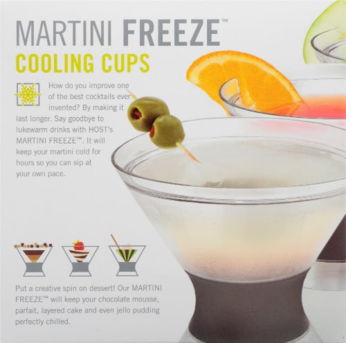 True Fabrications Host Freeze Cooling Martini Cup - Gray/Clear Perspective: right