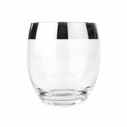 Chrome Rim Crystal Tumblers by Viski® Perspective: right