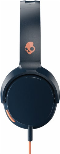 Skullcandy Riff Wired Headphones - Blue/Orange Perspective: right
