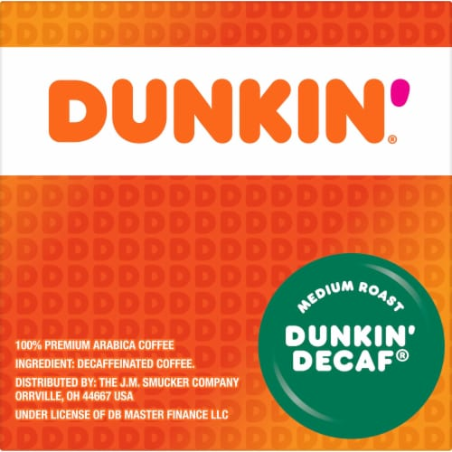 Dunkin' Donuts Decaf Coffee K-Cup® Pods Perspective: right