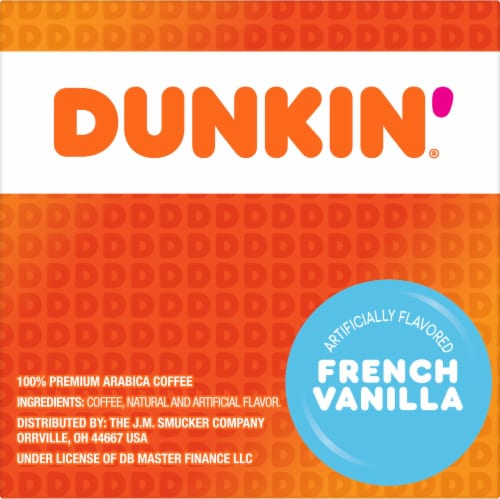 Dunkin' Donuts French Vanilla Flavored Coffee K-Cup Pods Perspective: right