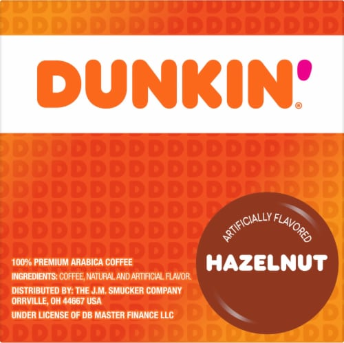 Dunkin' Donuts Hazelnut K-Cup Pods Perspective: right