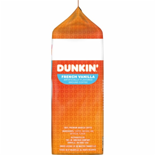 Dunkin' Donuts French Vanilla Ground Coffee Perspective: right