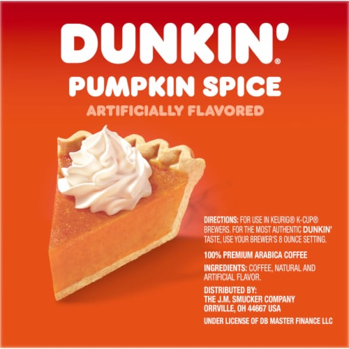Dunkin' Donuts Pumpkin Spice K-Cup Pods Perspective: right