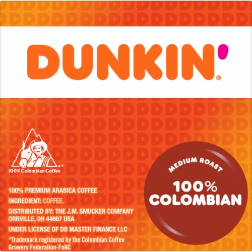 Dunkin' Donuts Colombian Coffee K-Cup Pods Perspective: right