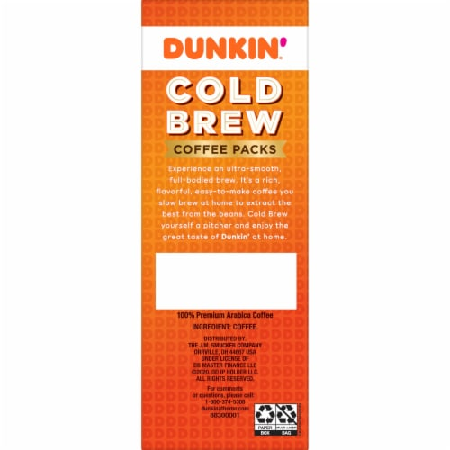 Dunkin' Donuts Cold Brew Coffee Packs Perspective: right