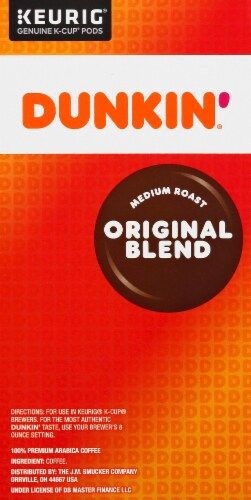 Dunkin' Donuts Original Blend Coffee K-Cup Pods Perspective: right