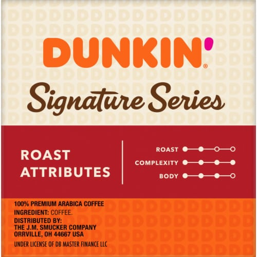 Dunkin' Signature Series Medium Roast Blend K-Cup Pods 10 Count Perspective: right