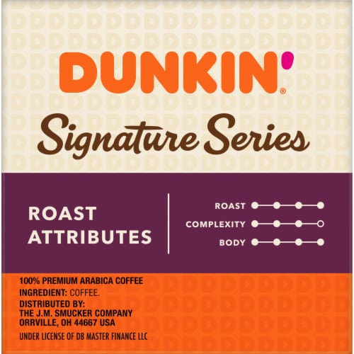Dunkin' Signature Series Select Bold Dark Roast Blend K-Cup Coffee Pods Perspective: right