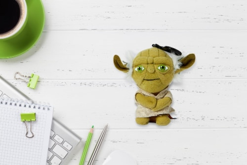 "Star Wars Mini 4"" Talking Plush Toy Clip On - Yoda Perspective: right"
