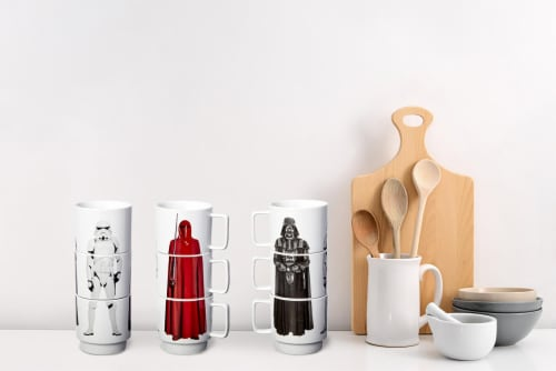 Star Wars 11oz Stacking Mugs - Darth Vader, Imperial Guard, and Stormtrooper Perspective: right