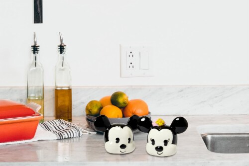 Disney Mickey Mouse & Minnie Mouse Salt & Pepper Shaker Set | Ceramic Shakers Perspective: right