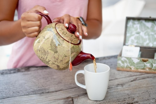 Harry Potter Marauder's Map Teapot | Decorative Collectible | 40-Ounce Capacity Perspective: right