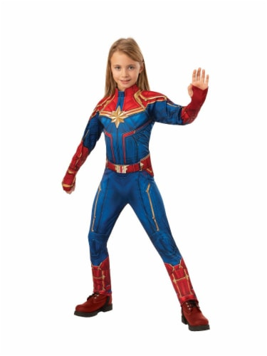 Seasons Girls' Large Captain Marvel Suit Costume Perspective: right