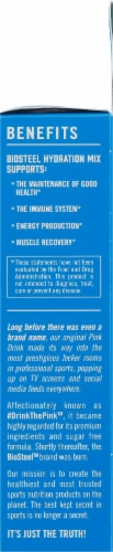 BioSteel Blue Raspberry Hydration Mix Packets Perspective: right