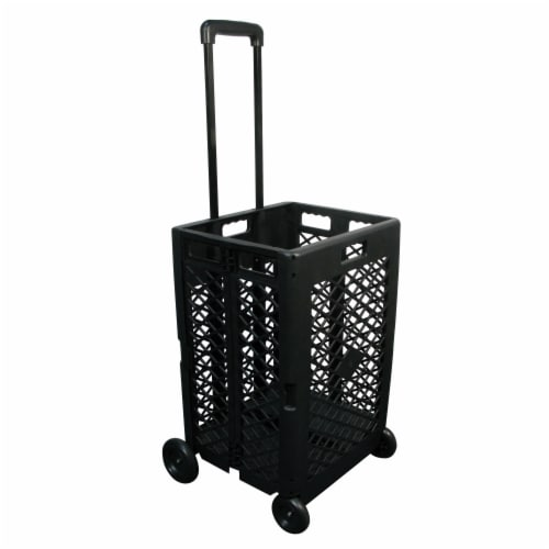 Olympia Tools Mesh Wheeled Cart - Black Perspective: right