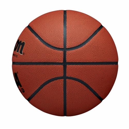 Wilson Sporting Goods NCAA Legend Intermediate Size Basketball - Orange/Black Perspective: right