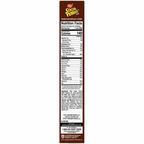 Post® Cocoa Pebbles™ Chocolate Flavored Rice Cereal Perspective: right