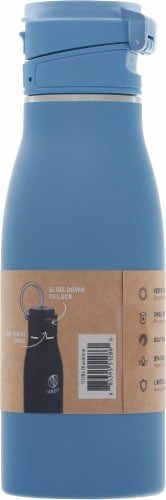 Takeya Actives Traveler Insulated Stainless Steel Bottle with Flip Cap - Bluestone Perspective: right